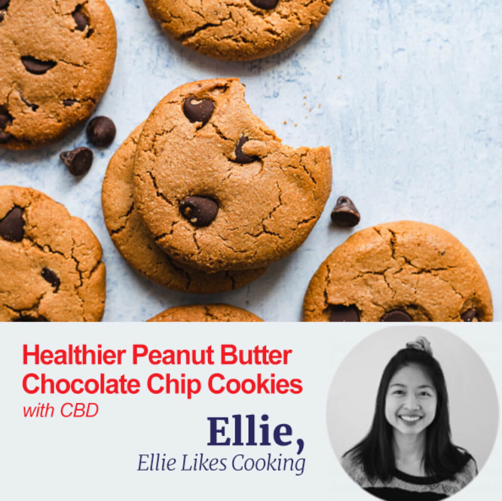Healthy Peanut Butter Cookies with CBD
