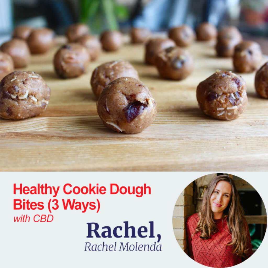 Healthy Cookie Dough Bites with CBD