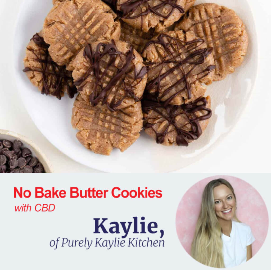 No Bake Butter Cookies with CBD