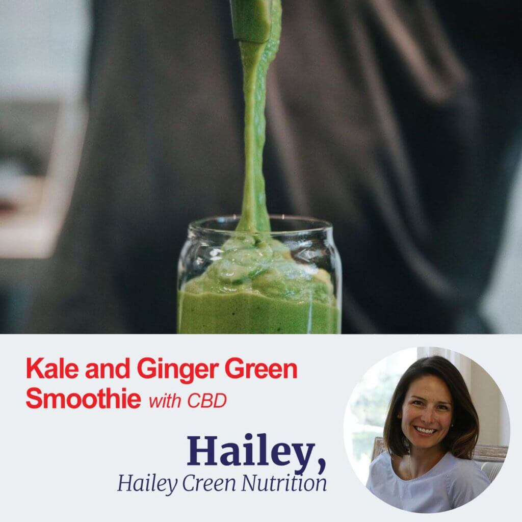 kale and ginger smoothie with CBD