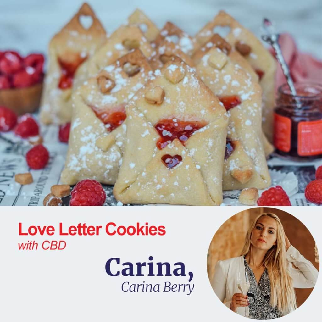 Love Letter Cookies with CBD